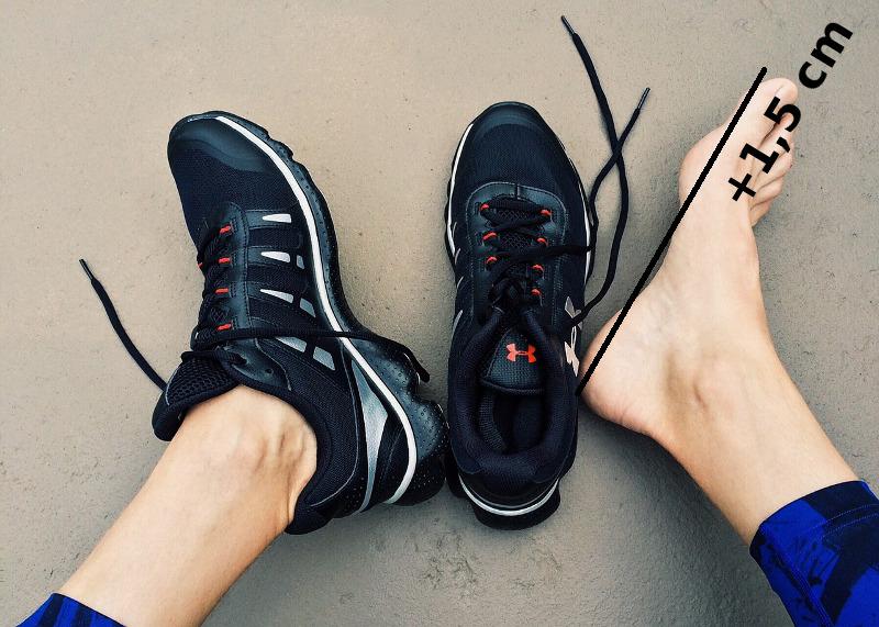 Köp inte för trånga skor. Lägg på 1,5 cm framför stortån.