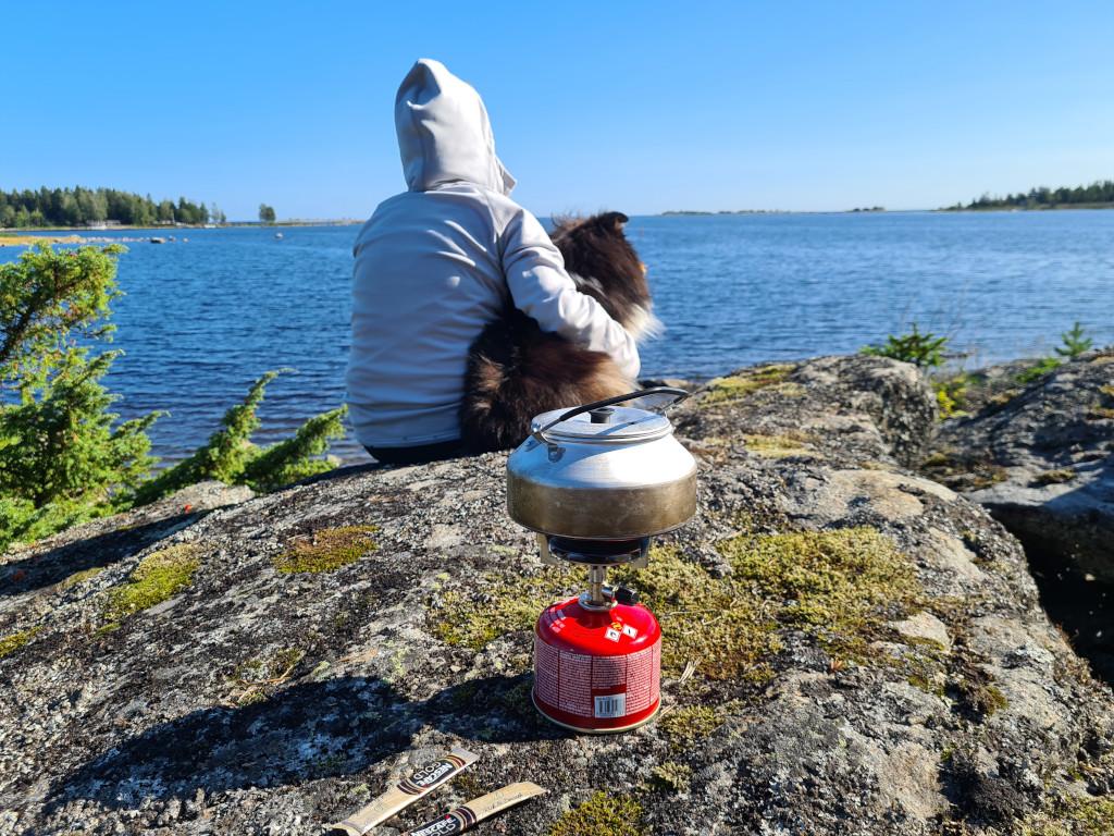 Kokar kaffe på klippa, Primus Mimer Stove Gasolkök